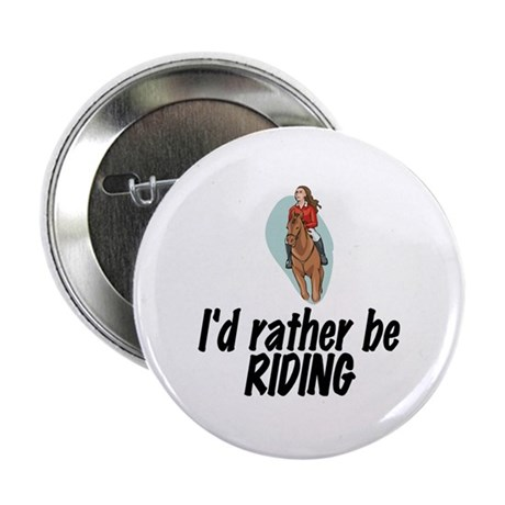 "SportChick EquestrianChick Rather 2.25"" Button (10"