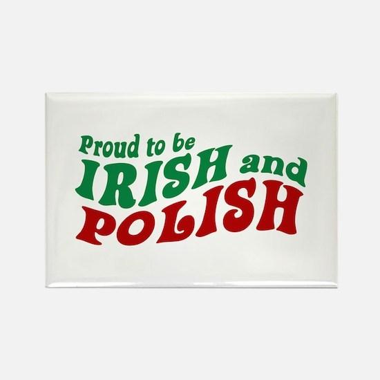 Proud Irish and Polish Rectangle Magnet