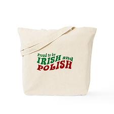 Proud Irish and Polish Tote Bag