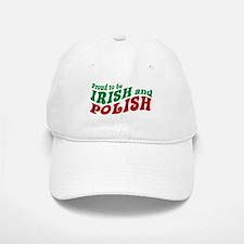 Proud Irish and Polish Baseball Baseball Cap