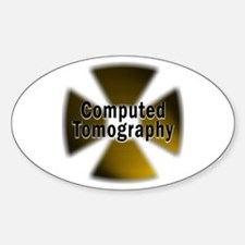 CT in Gold Oval Decal