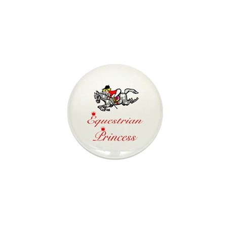 SportChick EquestrianChick Princess Mini Button (1