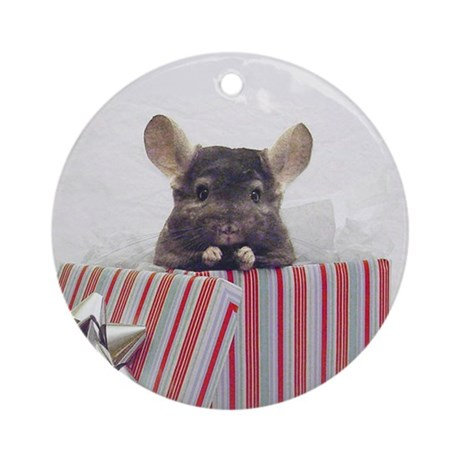 Chinchilla Ornament (Round)