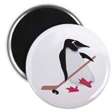 "Hockey Penguin 2.25"" Magnet (10 pack)"