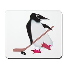 Hockey Penguin Mousepad