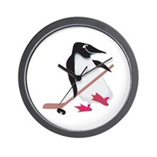 Hockey Penguin Wall Clock