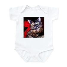 Christmas Tortie Cat Infant Bodysuit