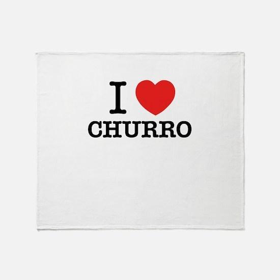 I Love CHURRO Throw Blanket