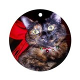 Cat christmas Round Ornaments