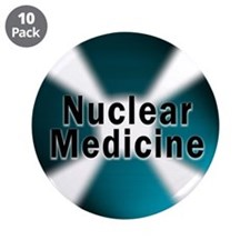 "Nuclear Medicine Blue 3.5"" Button (10 pack)"