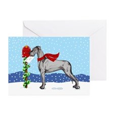 Great Dane Black UC Mail Greeting Cards (Pk of 20)