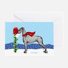 Great Dane Black UC Mail Greeting Card