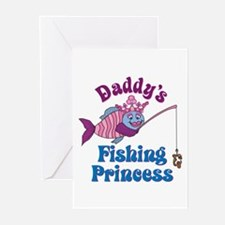 Daddy's Fishing Princess Greeting Cards (Package o