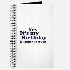 December 25th Birthday Journal