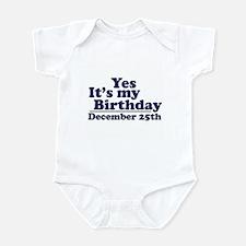December 25th Birthday Infant Bodysuit