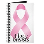 I Love Breasts Ribbon Journal