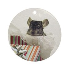 Chinchilla Ornament (Round)