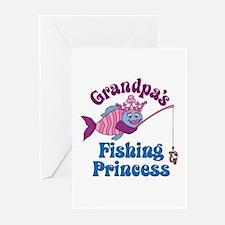 Grandpa's Fishing Princess Greeting Cards (Pk of 1