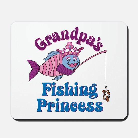 Grandpa's Fishing Princess Mousepad