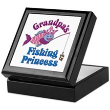 Grandpa's Fishing Princess Keepsake Box