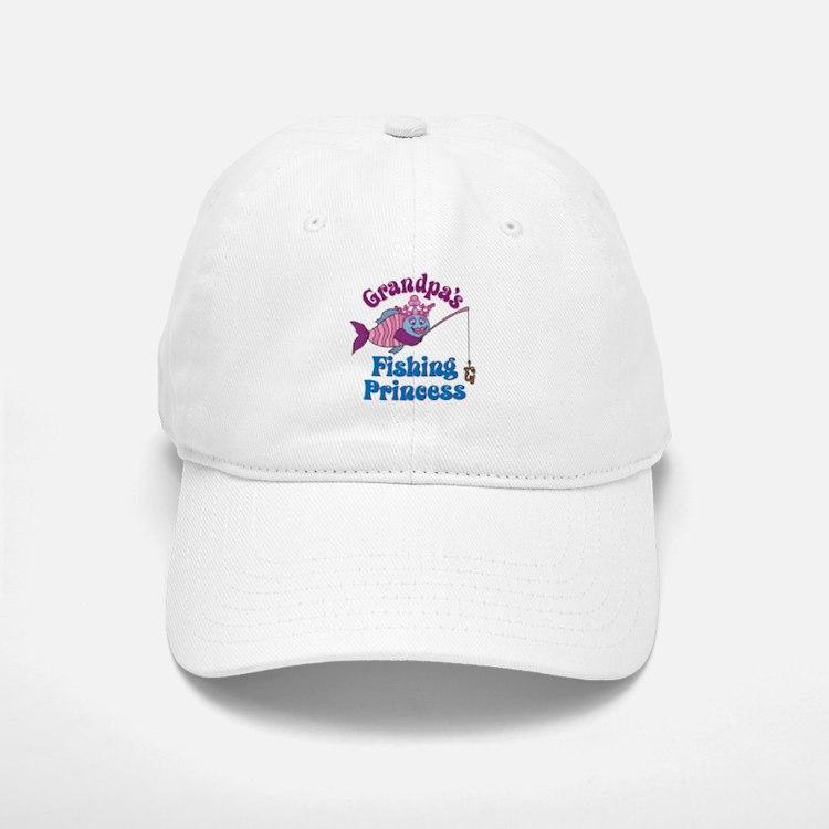 Grandpa's Fishing Princess Baseball Baseball Cap