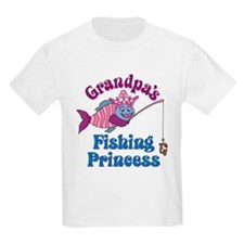 Grandpa's Fishing Princess T-Shirt