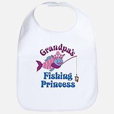 Grandpa's Fishing Princess Bib