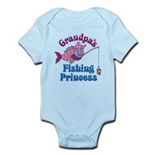 Grandpa's Fishing Princess Infant Bodysuit