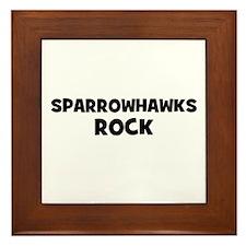 Sparrowhawks Rock Framed Tile