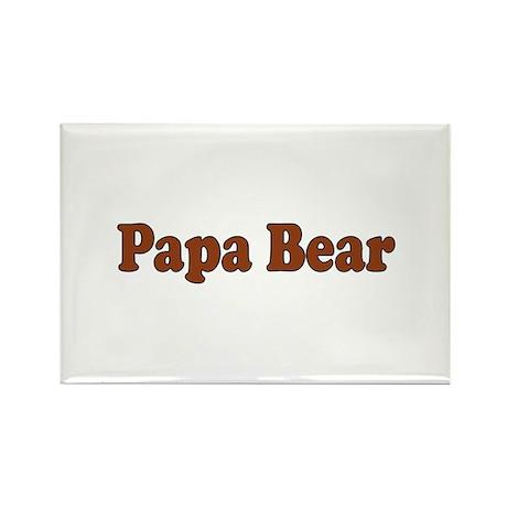 Papa Bear Rectangle Magnet (100 pack)