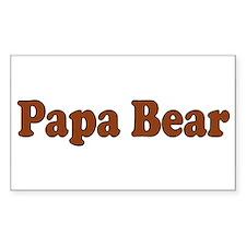 Papa Bear Rectangle Decal