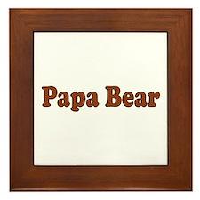 Papa Bear Framed Tile