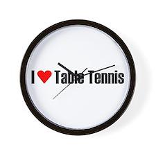 I love table tennis Wall Clock