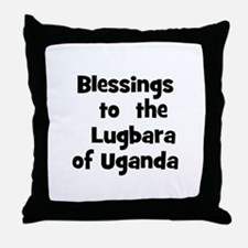Blessings  to  the  Lugbara o Throw Pillow