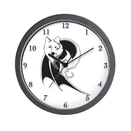 Wolf & Dragon Wall Clock