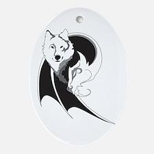Wolf & Dragon Ornament (Oval)