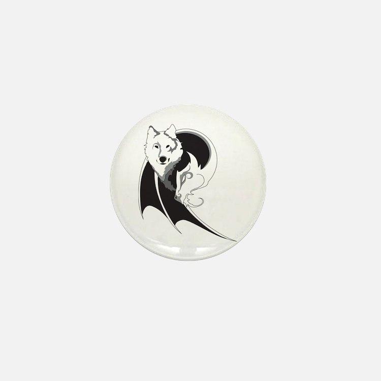 Wolf & Dragon Mini Button