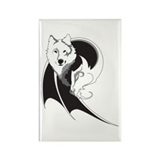 Wolf & Dragon Rectangle Magnet