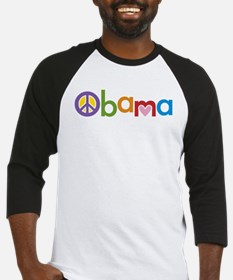 Peace, Love, Obama Baseball Jersey