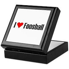I love foosball Keepsake Box