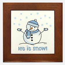 Let it snow snowman Framed Tile
