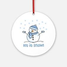 Let it snow snowman Ornament (Round)