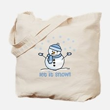 Let it snow snowman Tote Bag