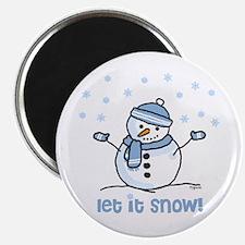Let it snow snowman Magnet