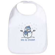 Let it snow snowman Bib
