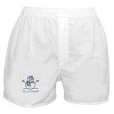 Let it snow snowman Boxer Shorts