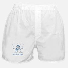 Let it snow snowman Boxer Shorts