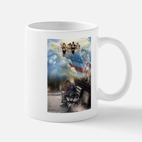 Twin Towers, 343 Firefighters Mug