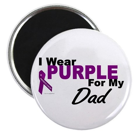 """I Wear Purple For My Dad 3 (PC) 2.25"""" Magnet (100"""