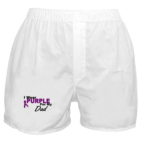 I Wear Purple For My Dad 3 (PC) Boxer Shorts